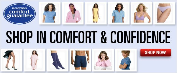 Shop in comfort & confidence