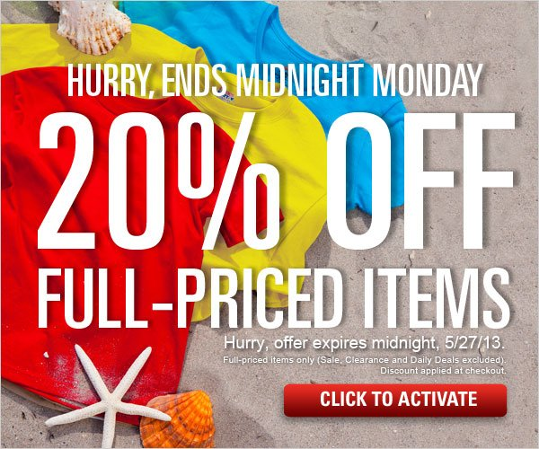 20% off full-priced items