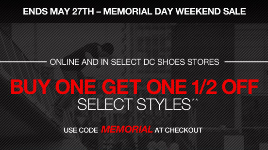 Ends May 27th - Memorial Day Weekend Sale!