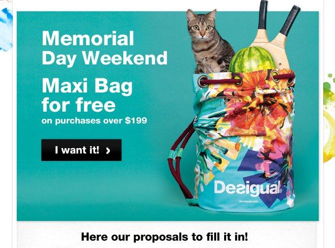 Maxi Bag for free