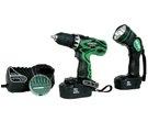 Hitachi Drill Kit With Flashlight