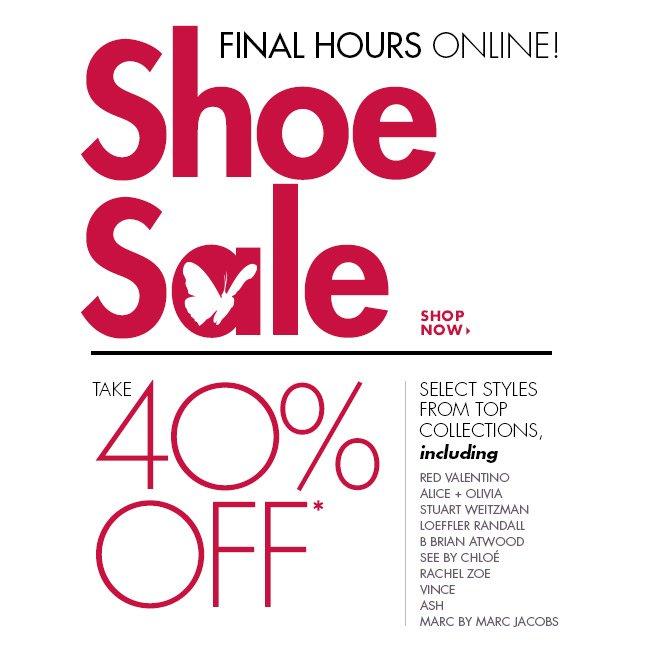 Shoe Sale Final Hours