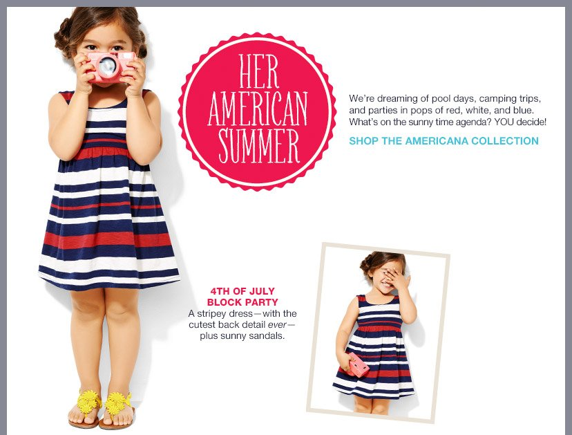 HER AMERICAN SUMMER | SHOP THE AMERICANA COLLECTION