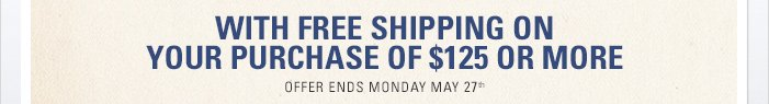 Celebrate with Free Shipping on Your Purchase of $125 or More
