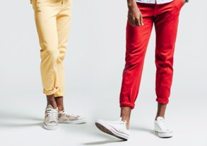 Shop Pop-Color Chinos & Casual Kicks