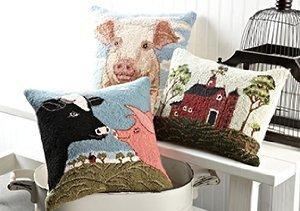 Animal Hook Pillows featuring Warren Kimble