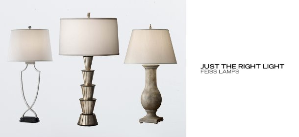 JUST THE RIGHT LIGHT: FEISS LAMPS, Event Ends May 28, 9:00 AM PT >