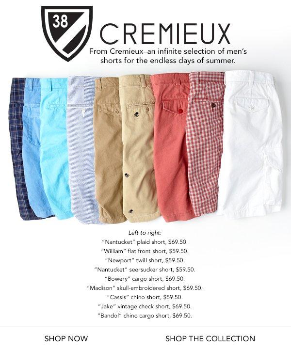 Off-duty essential: Men's Cremieux shorts