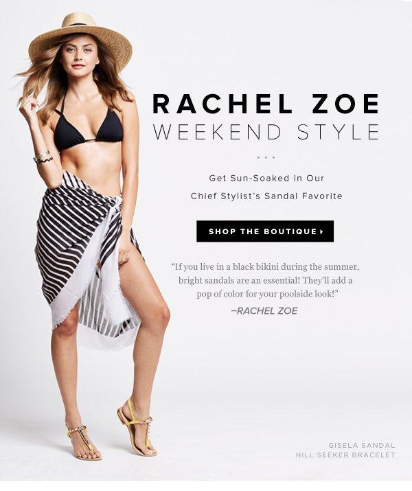 Rachel Zoe Weekend Style: The Bright Poolside Sandal     Shop Now