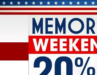 Memorial Day Weekend Sale 20% OFF Code: MEM20