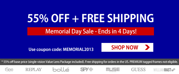 Memorial Day SALE: 55% Off + Free Shipping!