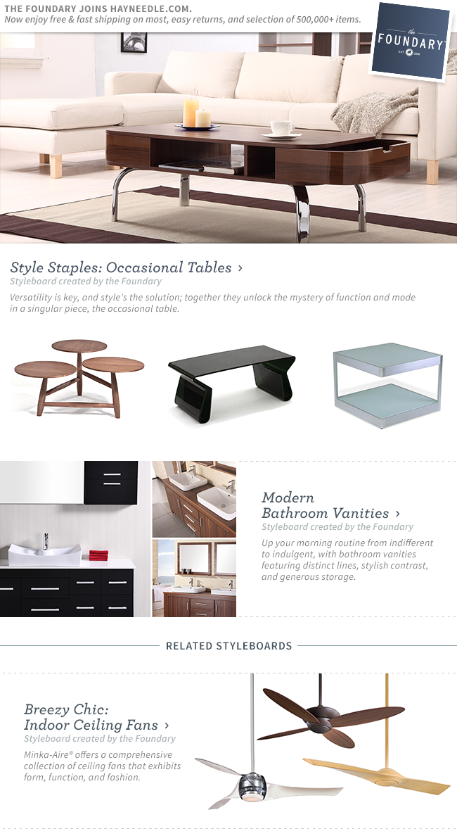 Shop Occasional Tables and Modern Bathroom Vanities.