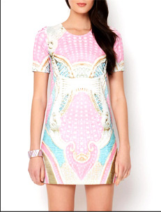 Multicolor Printed Dress