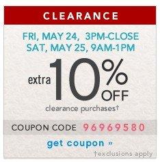 Extra 10% off. Get coupon.