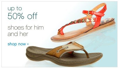 Up to 50% off shoes for him and her . Shop now.