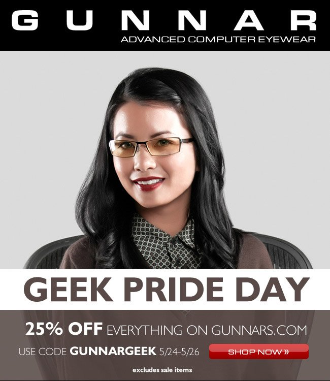 Celebrate Geek Pride Day With 25% OFF GUNNARS!