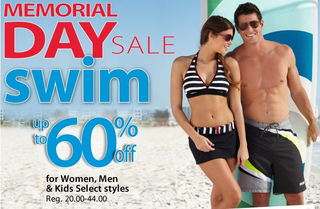 Memorial Day Sale - Up to 60% off select swimwear for the whole family