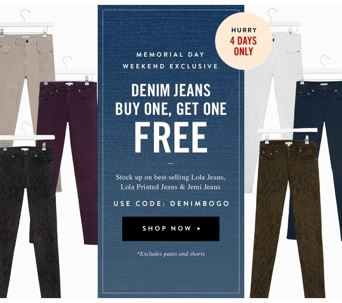 Denim Jeans Buy One Get One Free