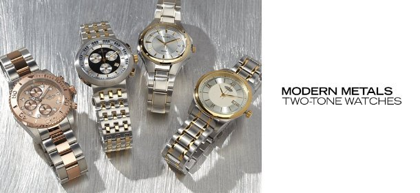 MODERN METALS: TWO-TONE WATCHES, Event Ends May 28, 9:00 AM PT >