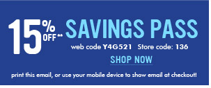 15% Off Savings Pass