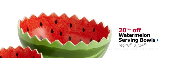 20% off Watermelon Serving Bowls