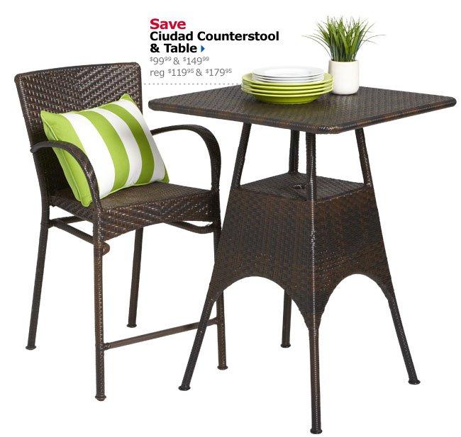 Save Ciudad Counterstool & Table