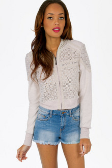 CROCHET BOMBER JACKET 44