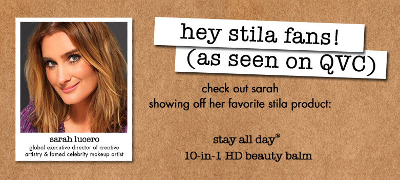 hey stila fans! as seen on QVC - a special offer for you!