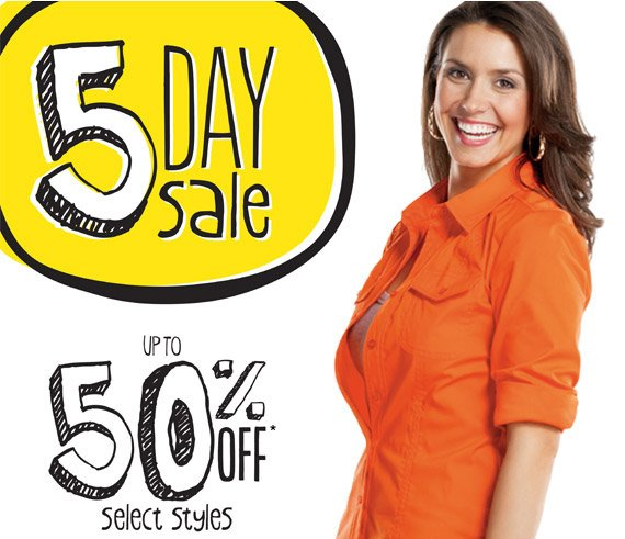There are only a few days left to save up to 50% on select styles for the entire family!