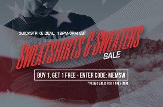 Sweatshirts & Sweaters: Buy 1, Get 1 Free