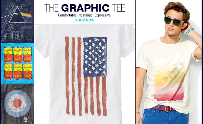 THE GRAPHIC TEE | Comfortable. Nostalgic. Expressive. | SHOP NOW