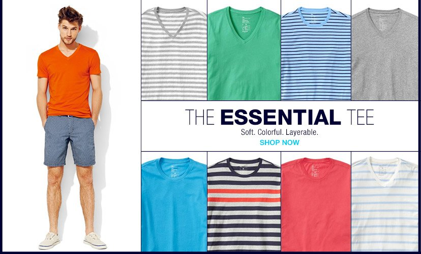THE ESSENTIAL TEE | Soft. Colorful. Layerable. | SHOP NOW