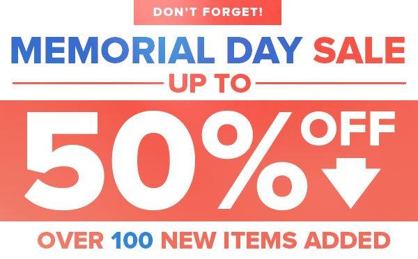 Memorial Day Sale Reminder