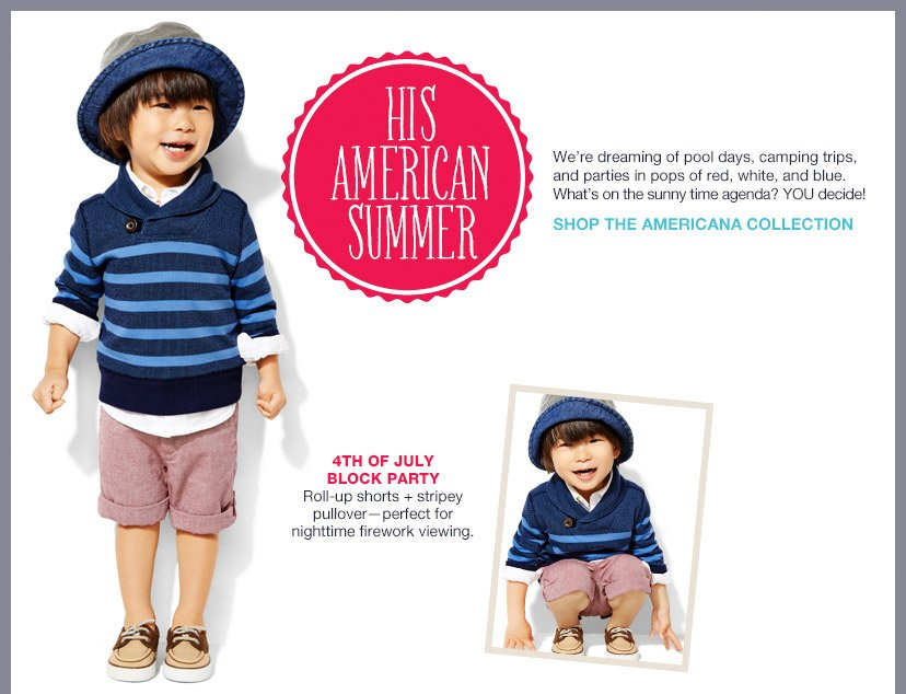 HIS AMERICAN SUMMER | SHOP THE AMERICANA COLLECTION