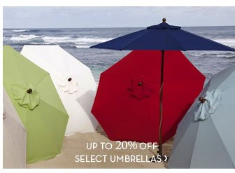 UP TO 20% OFF SELECT UMBRELLAS