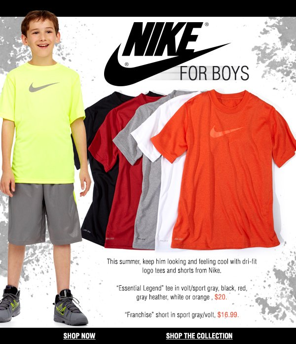 Your athletic destination: Nike for boys