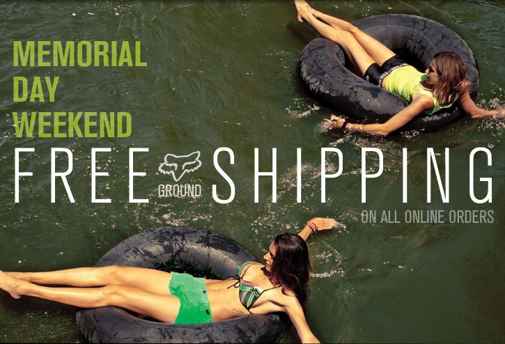 Free Shipping Memorial Day Weekend