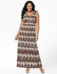 Plus Size Trailblazer Maxi Catherines Women's Size 2X,3X, Coffee Bean