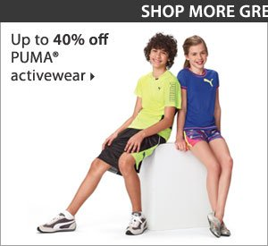Up to 40% off PUMA® activewear. Shop now.