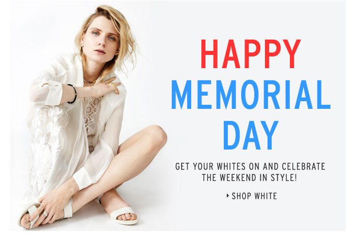 HAPPY MEMORIAL DAY - Shop White