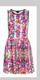 Summer Floral Flippy Dress