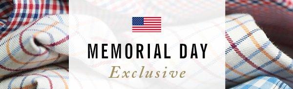 Memorial Day Exclusive