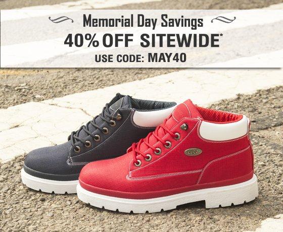 Memorial Day Sale 40% OFF