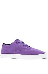 The Wrap Sneaker in Purple Canvas