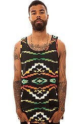 The Tribes Tank Top in Black Native