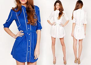 Fashion Ensemble: Blue & White Outfit by Tantra