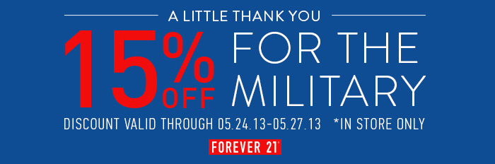 15% Off For Military - Shop Now