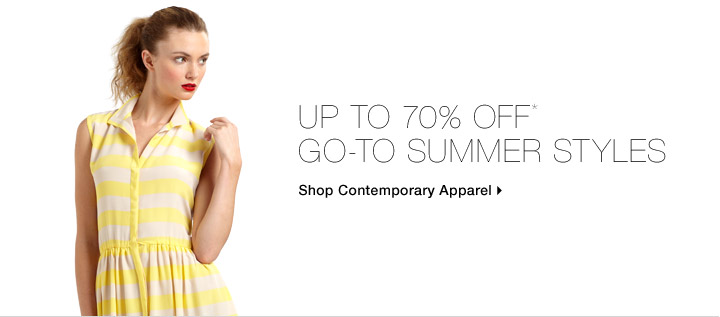Up To 70% Off* Go-To Summer Styles
