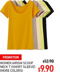 WOMEN AIRISM SCOOP NECK T