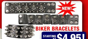 NEW! Biker Leather Bracelets!
